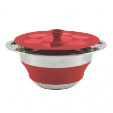 Силиконовая складная кастрюля 2,5 л OUTWELL Collaps Pot 2,5L красная